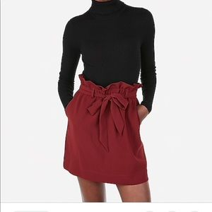 Express high waisted sash tie mini skirt
